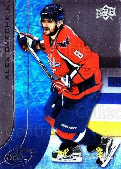 2015-16 UD Ice #1 Alexander Ovechkin<br/>6 In Stock - $3.00 each - <a href=https://centericecollectibles.foxycart.com/cart?name=2015-16%20UD%20Ice%20%231%20Alexander%20Ovech...&quantity_max=6&price=$3.00&code=687919 class=foxycart> Buy it now! </a>