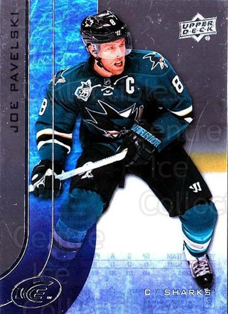 2015-16 UD Ice #10 Joe Pavelski<br/>5 In Stock - $2.00 each - <a href=https://centericecollectibles.foxycart.com/cart?name=2015-16%20UD%20Ice%20%2310%20Joe%20Pavelski...&quantity_max=5&price=$2.00&code=687928 class=foxycart> Buy it now! </a>