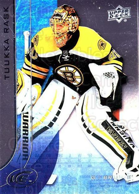 2015-16 UD Ice #15 Tuukka Rask<br/>6 In Stock - $2.00 each - <a href=https://centericecollectibles.foxycart.com/cart?name=2015-16%20UD%20Ice%20%2315%20Tuukka%20Rask...&quantity_max=6&price=$2.00&code=687933 class=foxycart> Buy it now! </a>