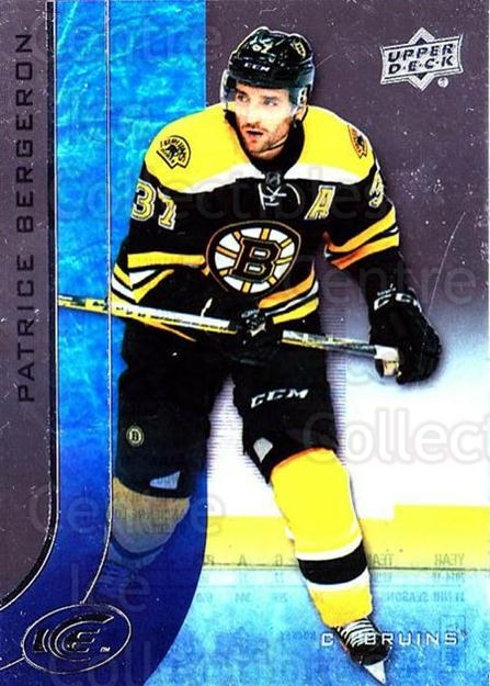 2015-16 UD Ice #76 Patrice Bergeron<br/>4 In Stock - $2.00 each - <a href=https://centericecollectibles.foxycart.com/cart?name=2015-16%20UD%20Ice%20%2376%20Patrice%20Bergero...&quantity_max=4&price=$2.00&code=687994 class=foxycart> Buy it now! </a>