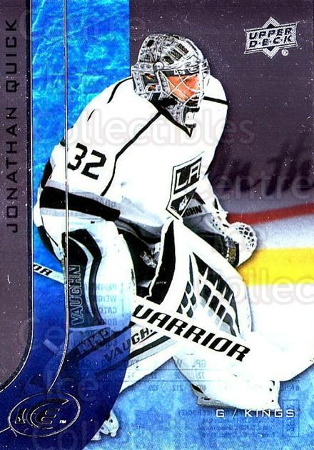 2015-16 UD Ice #83 Jonathan Quick<br/>5 In Stock - $2.00 each - <a href=https://centericecollectibles.foxycart.com/cart?name=2015-16%20UD%20Ice%20%2383%20Jonathan%20Quick...&quantity_max=5&price=$2.00&code=688001 class=foxycart> Buy it now! </a>