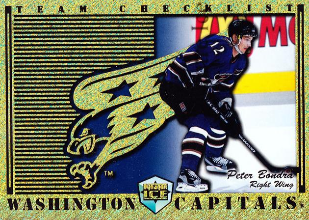 1998-99 Dynagon Ice Team Checklists #27 Peter Bondra<br/>2 In Stock - $3.00 each - <a href=https://centericecollectibles.foxycart.com/cart?name=1998-99%20Dynagon%20Ice%20Team%20Checklists%20%2327%20Peter%20Bondra...&quantity_max=2&price=$3.00&code=68800 class=foxycart> Buy it now! </a>