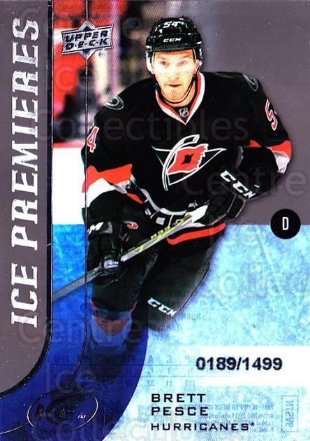 2015-16 UD Ice #159 Brett Pesce<br/>1 In Stock - $5.00 each - <a href=https://centericecollectibles.foxycart.com/cart?name=2015-16%20UD%20Ice%20%23159%20Brett%20Pesce...&quantity_max=1&price=$5.00&code=688077 class=foxycart> Buy it now! </a>