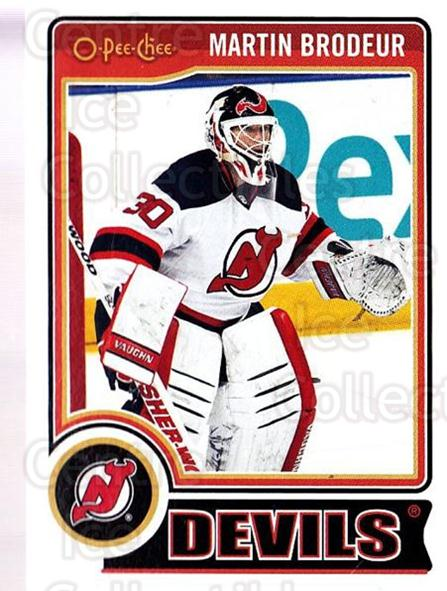 2014-15 O-Pee-chee #1 Martin Brodeur<br/>1 In Stock - $3.00 each - <a href=https://centericecollectibles.foxycart.com/cart?name=2014-15%20O-Pee-chee%20%231%20Martin%20Brodeur...&quantity_max=1&price=$3.00&code=688119 class=foxycart> Buy it now! </a>