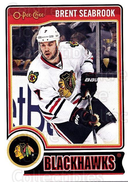 2014-15 O-Pee-chee #10 Brent Seabrook<br/>4 In Stock - $1.00 each - <a href=https://centericecollectibles.foxycart.com/cart?name=2014-15%20O-Pee-chee%20%2310%20Brent%20Seabrook...&quantity_max=4&price=$1.00&code=688128 class=foxycart> Buy it now! </a>