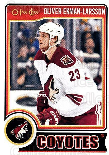 2014-15 O-Pee-chee #16 Oliver Ekman-Larsson<br/>5 In Stock - $1.00 each - <a href=https://centericecollectibles.foxycart.com/cart?name=2014-15%20O-Pee-chee%20%2316%20Oliver%20Ekman-La...&quantity_max=5&price=$1.00&code=688134 class=foxycart> Buy it now! </a>