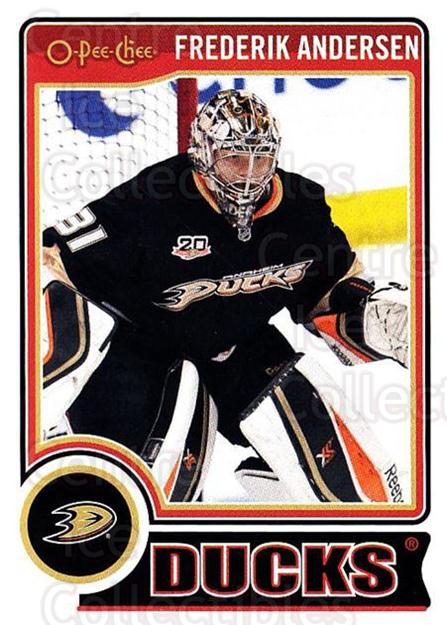 2014-15 O-Pee-chee #57 Frederik Andersen<br/>5 In Stock - $1.00 each - <a href=https://centericecollectibles.foxycart.com/cart?name=2014-15%20O-Pee-chee%20%2357%20Frederik%20Anders...&quantity_max=5&price=$1.00&code=688175 class=foxycart> Buy it now! </a>
