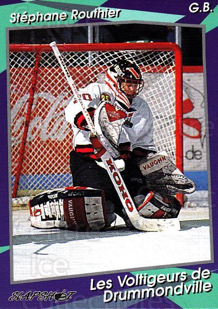 1993-94 Drummondville Voltigeurs #2 Stephane Routhier<br/>4 In Stock - $3.00 each - <a href=https://centericecollectibles.foxycart.com/cart?name=1993-94%20Drummondville%20Voltigeurs%20%232%20Stephane%20Routhi...&price=$3.00&code=6881 class=foxycart> Buy it now! </a>
