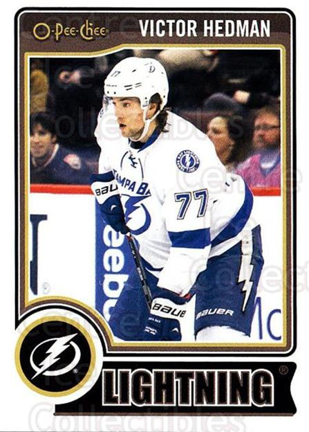 2014-15 O-Pee-chee #293 Victor Hedman<br/>5 In Stock - $1.00 each - <a href=https://centericecollectibles.foxycart.com/cart?name=2014-15%20O-Pee-chee%20%23293%20Victor%20Hedman...&quantity_max=5&price=$1.00&code=688411 class=foxycart> Buy it now! </a>