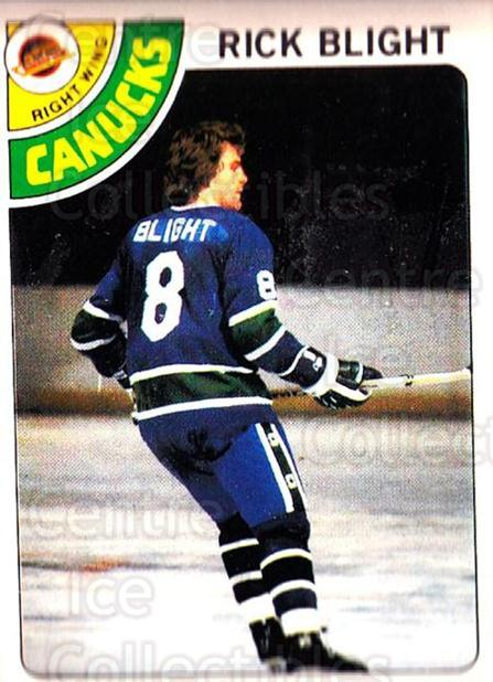 1978-79 O-Pee-Chee #7 Rick Blight<br/>2 In Stock - $2.00 each - <a href=https://centericecollectibles.foxycart.com/cart?name=1978-79%20O-Pee-Chee%20%237%20Rick%20Blight...&price=$2.00&code=688743 class=foxycart> Buy it now! </a>