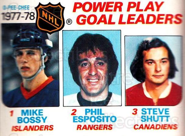 1978-79 O-Pee-Chee #67 Mike Bossy, Phil Esposito, Steve Shutt<br/>3 In Stock - $3.00 each - <a href=https://centericecollectibles.foxycart.com/cart?name=1978-79%20O-Pee-Chee%20%2367%20Mike%20Bossy,%20Phi...&quantity_max=3&price=$3.00&code=688803 class=foxycart> Buy it now! </a>