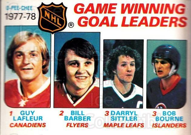 1978-79 O-Pee-Chee #69 Guy Lafleur, Bill Barber, Darryl Sittler, Bob Bourne<br/>2 In Stock - $3.00 each - <a href=https://centericecollectibles.foxycart.com/cart?name=1978-79%20O-Pee-Chee%20%2369%20Guy%20Lafleur,%20Bi...&quantity_max=2&price=$3.00&code=688805 class=foxycart> Buy it now! </a>