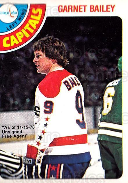 1978-79 O-Pee-Chee #276 Garnet Bailey<br/>6 In Stock - $2.00 each - <a href=https://centericecollectibles.foxycart.com/cart?name=1978-79%20O-Pee-Chee%20%23276%20Garnet%20Bailey...&quantity_max=6&price=$2.00&code=689012 class=foxycart> Buy it now! </a>