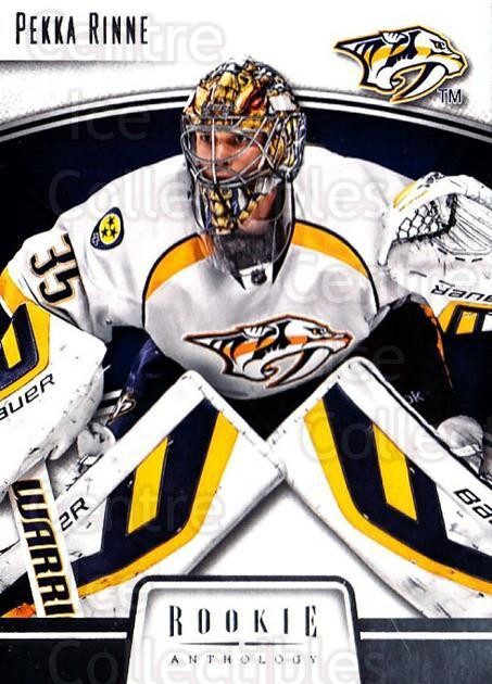 2013-14 Panini Rookie Anthology #53 Pekka Rinne<br/>3 In Stock - $1.00 each - <a href=https://centericecollectibles.foxycart.com/cart?name=2013-14%20Panini%20Rookie%20Anthology%20%2353%20Pekka%20Rinne...&quantity_max=3&price=$1.00&code=689185 class=foxycart> Buy it now! </a>