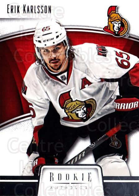 2013-14 Panini Rookie Anthology #65 Erik Karlsson<br/>3 In Stock - $1.00 each - <a href=https://centericecollectibles.foxycart.com/cart?name=2013-14%20Panini%20Rookie%20Anthology%20%2365%20Erik%20Karlsson...&quantity_max=3&price=$1.00&code=689197 class=foxycart> Buy it now! </a>