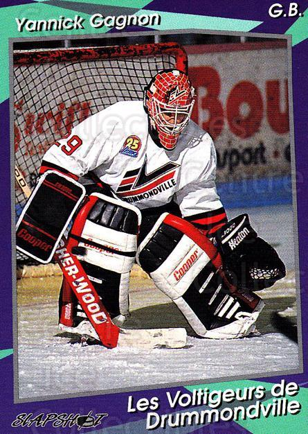 1993-94 Drummondville Voltigeurs #3 Yanick Gagnon<br/>4 In Stock - $3.00 each - <a href=https://centericecollectibles.foxycart.com/cart?name=1993-94%20Drummondville%20Voltigeurs%20%233%20Yanick%20Gagnon...&price=$3.00&code=6891 class=foxycart> Buy it now! </a>