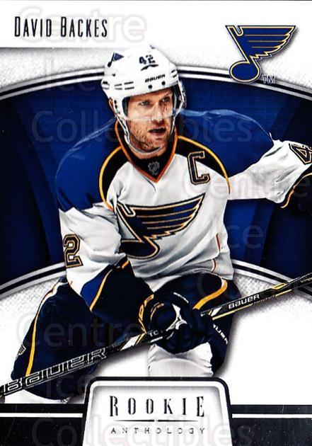 2013-14 Panini Rookie Anthology #82 David Backes<br/>3 In Stock - $1.00 each - <a href=https://centericecollectibles.foxycart.com/cart?name=2013-14%20Panini%20Rookie%20Anthology%20%2382%20David%20Backes...&quantity_max=3&price=$1.00&code=689214 class=foxycart> Buy it now! </a>