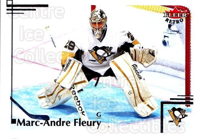 2012-13 Fleer Retro #26 Marc-Andre Fleury<br/>1 In Stock - $2.00 each - <a href=https://centericecollectibles.foxycart.com/cart?name=2012-13%20Fleer%20Retro%20%2326%20Marc-Andre%20Fleu...&quantity_max=1&price=$2.00&code=689358 class=foxycart> Buy it now! </a>