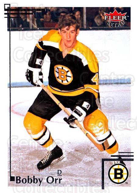 2012-13 Fleer Retro #89 Bobby Orr<br/>1 In Stock - $3.00 each - <a href=https://centericecollectibles.foxycart.com/cart?name=2012-13%20Fleer%20Retro%20%2389%20Bobby%20Orr...&price=$3.00&code=689421 class=foxycart> Buy it now! </a>