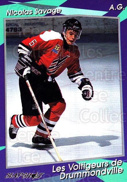 1993-94 Drummondville Voltigeurs #6 Nicolas Savage<br/>4 In Stock - $3.00 each - <a href=https://centericecollectibles.foxycart.com/cart?name=1993-94%20Drummondville%20Voltigeurs%20%236%20Nicolas%20Savage...&price=$3.00&code=6894 class=foxycart> Buy it now! </a>
