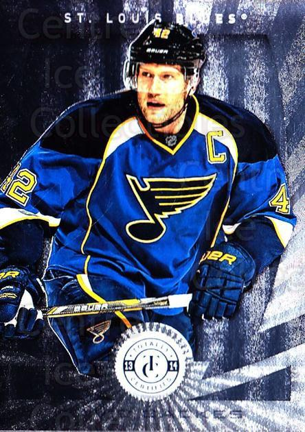 2013-14 Totally Certified #107 David Backes<br/>1 In Stock - $1.00 each - <a href=https://centericecollectibles.foxycart.com/cart?name=2013-14%20Totally%20Certified%20%23107%20David%20Backes...&quantity_max=1&price=$1.00&code=689539 class=foxycart> Buy it now! </a>