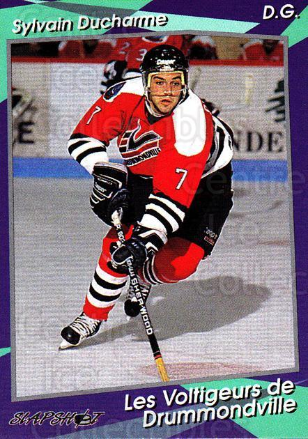 1993-94 Drummondville Voltigeurs #7 Sylvain Ducharme<br/>4 In Stock - $3.00 each - <a href=https://centericecollectibles.foxycart.com/cart?name=1993-94%20Drummondville%20Voltigeurs%20%237%20Sylvain%20Ducharm...&price=$3.00&code=6895 class=foxycart> Buy it now! </a>