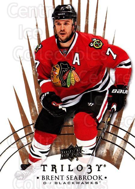 2014-15 UD Trilogy #34 Brent Seabrook<br/>2 In Stock - $1.00 each - <a href=https://centericecollectibles.foxycart.com/cart?name=2014-15%20UD%20Trilogy%20%2334%20Brent%20Seabrook...&quantity_max=2&price=$1.00&code=689767 class=foxycart> Buy it now! </a>