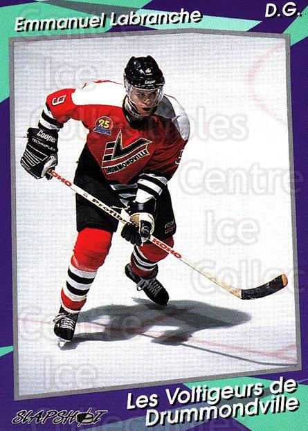 1993-94 Drummondville Voltigeurs #9 Emmanuel Labranche<br/>3 In Stock - $3.00 each - <a href=https://centericecollectibles.foxycart.com/cart?name=1993-94%20Drummondville%20Voltigeurs%20%239%20Emmanuel%20Labran...&price=$3.00&code=6897 class=foxycart> Buy it now! </a>
