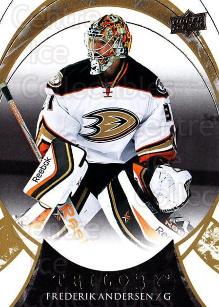 2015-16 UD Trilogy #3 Frederik Andersen<br/>2 In Stock - $1.00 each - <a href=https://centericecollectibles.foxycart.com/cart?name=2015-16%20UD%20Trilogy%20%233%20Frederik%20Anders...&quantity_max=2&price=$1.00&code=689936 class=foxycart> Buy it now! </a>