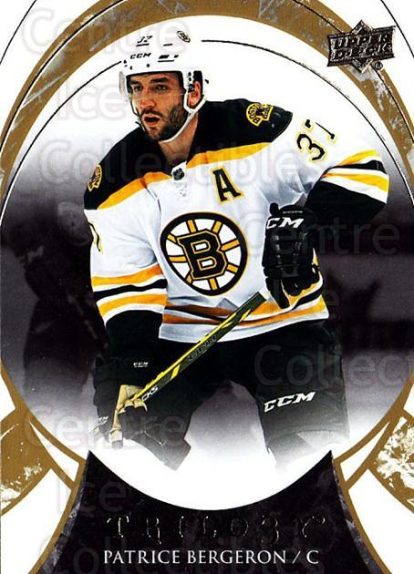 2015-16 UD Trilogy #8 Patrice Bergeron<br/>2 In Stock - $2.00 each - <a href=https://centericecollectibles.foxycart.com/cart?name=2015-16%20UD%20Trilogy%20%238%20Patrice%20Bergero...&quantity_max=2&price=$2.00&code=689941 class=foxycart> Buy it now! </a>