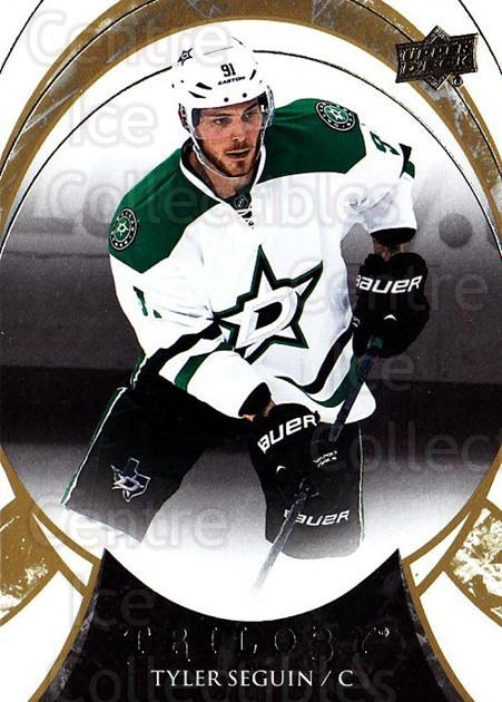 2015-16 UD Trilogy #28 Tyler Seguin<br/>1 In Stock - $1.00 each - <a href=https://centericecollectibles.foxycart.com/cart?name=2015-16%20UD%20Trilogy%20%2328%20Tyler%20Seguin...&quantity_max=1&price=$1.00&code=689961 class=foxycart> Buy it now! </a>