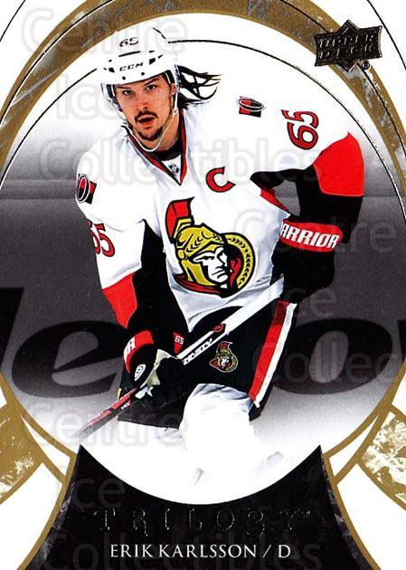 2015-16 UD Trilogy #63 Erik Karlsson<br/>2 In Stock - $1.00 each - <a href=https://centericecollectibles.foxycart.com/cart?name=2015-16%20UD%20Trilogy%20%2363%20Erik%20Karlsson...&quantity_max=2&price=$1.00&code=689996 class=foxycart> Buy it now! </a>