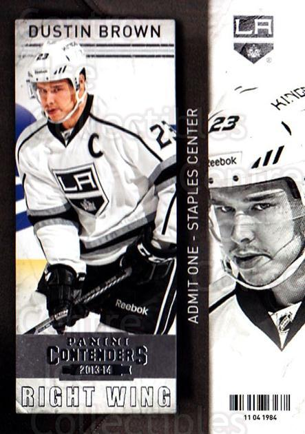 2013-14 Panini Contenders #25 Dustin Brown<br/>7 In Stock - $1.00 each - <a href=https://centericecollectibles.foxycart.com/cart?name=2013-14%20Panini%20Contenders%20%2325%20Dustin%20Brown...&quantity_max=7&price=$1.00&code=690506 class=foxycart> Buy it now! </a>