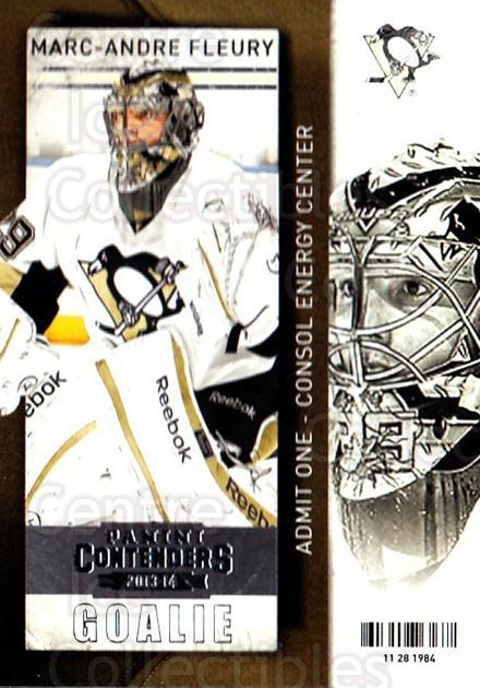 2013-14 Panini Contenders #36 Marc-Andre Fleury<br/>7 In Stock - $2.00 each - <a href=https://centericecollectibles.foxycart.com/cart?name=2013-14%20Panini%20Contenders%20%2336%20Marc-Andre%20Fleu...&quantity_max=7&price=$2.00&code=690517 class=foxycart> Buy it now! </a>