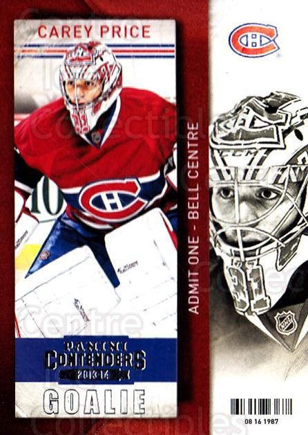 2013-14 Panini Contenders #63 Carey Price<br/>3 In Stock - $3.00 each - <a href=https://centericecollectibles.foxycart.com/cart?name=2013-14%20Panini%20Contenders%20%2363%20Carey%20Price...&price=$3.00&code=690544 class=foxycart> Buy it now! </a>