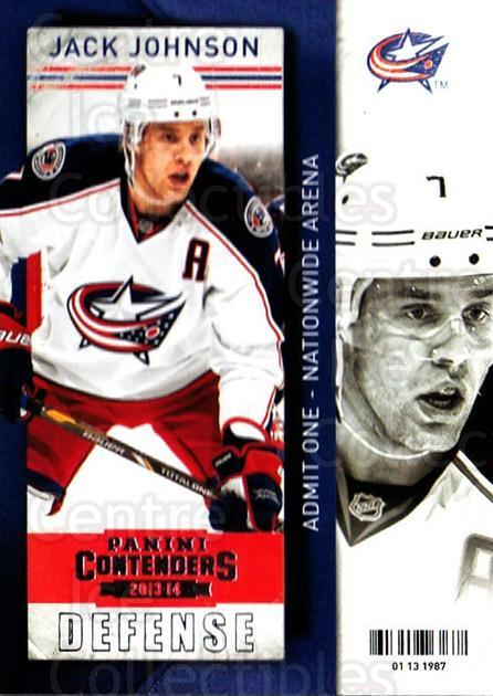 2013-14 Panini Contenders #84 Jack Johnson<br/>7 In Stock - $1.00 each - <a href=https://centericecollectibles.foxycart.com/cart?name=2013-14%20Panini%20Contenders%20%2384%20Jack%20Johnson...&quantity_max=7&price=$1.00&code=690565 class=foxycart> Buy it now! </a>