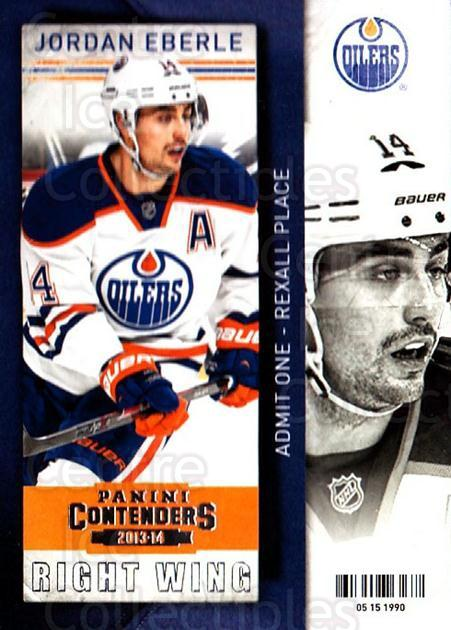 2013-14 Panini Contenders #95 Jordan Eberle<br/>6 In Stock - $1.00 each - <a href=https://centericecollectibles.foxycart.com/cart?name=2013-14%20Panini%20Contenders%20%2395%20Jordan%20Eberle...&quantity_max=6&price=$1.00&code=690576 class=foxycart> Buy it now! </a>