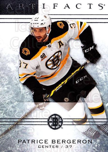 2014-15 UD Artifacts #53 Patrice Bergeron<br/>5 In Stock - $2.00 each - <a href=https://centericecollectibles.foxycart.com/cart?name=2014-15%20UD%20Artifacts%20%2353%20Patrice%20Bergero...&quantity_max=5&price=$2.00&code=690908 class=foxycart> Buy it now! </a>