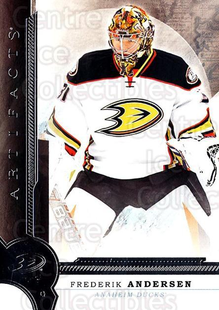 2016-17 UD Artifacts #16 Frederik Andersen<br/>1 In Stock - $1.00 each - <a href=https://centericecollectibles.foxycart.com/cart?name=2016-17%20UD%20Artifacts%20%2316%20Frederik%20Anders...&quantity_max=1&price=$1.00&code=691063 class=foxycart> Buy it now! </a>