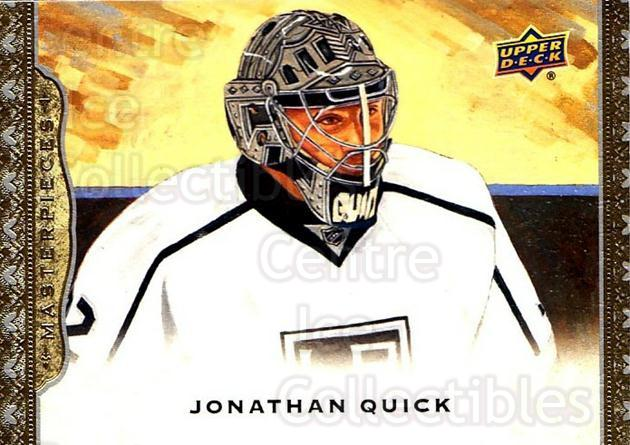 2014-15 UD Masterpieces #16 Jonathan Quick<br/>5 In Stock - $2.00 each - <a href=https://centericecollectibles.foxycart.com/cart?name=2014-15%20UD%20Masterpieces%20%2316%20Jonathan%20Quick...&quantity_max=5&price=$2.00&code=691243 class=foxycart> Buy it now! </a>