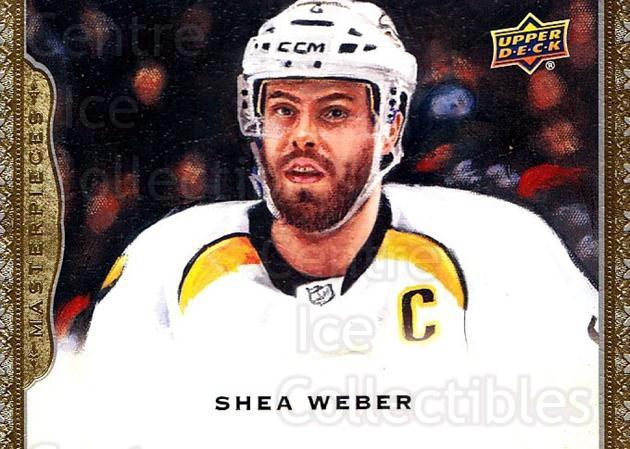 2014-15 UD Masterpieces #19 Shea Weber<br/>5 In Stock - $2.00 each - <a href=https://centericecollectibles.foxycart.com/cart?name=2014-15%20UD%20Masterpieces%20%2319%20Shea%20Weber...&quantity_max=5&price=$2.00&code=691246 class=foxycart> Buy it now! </a>