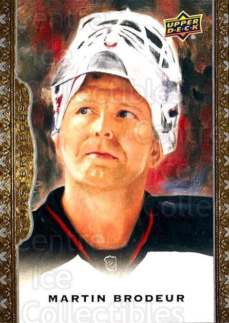 2014-15 UD Masterpieces #20 Martin Brodeur<br/>4 In Stock - $3.00 each - <a href=https://centericecollectibles.foxycart.com/cart?name=2014-15%20UD%20Masterpieces%20%2320%20Martin%20Brodeur...&quantity_max=4&price=$3.00&code=691247 class=foxycart> Buy it now! </a>
