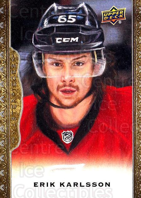 2014-15 UD Masterpieces #23 Erik Karlsson<br/>5 In Stock - $2.00 each - <a href=https://centericecollectibles.foxycart.com/cart?name=2014-15%20UD%20Masterpieces%20%2323%20Erik%20Karlsson...&quantity_max=5&price=$2.00&code=691250 class=foxycart> Buy it now! </a>