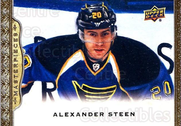 2014-15 UD Masterpieces #28 Alexander Steen<br/>4 In Stock - $2.00 each - <a href=https://centericecollectibles.foxycart.com/cart?name=2014-15%20UD%20Masterpieces%20%2328%20Alexander%20Steen...&quantity_max=4&price=$2.00&code=691255 class=foxycart> Buy it now! </a>