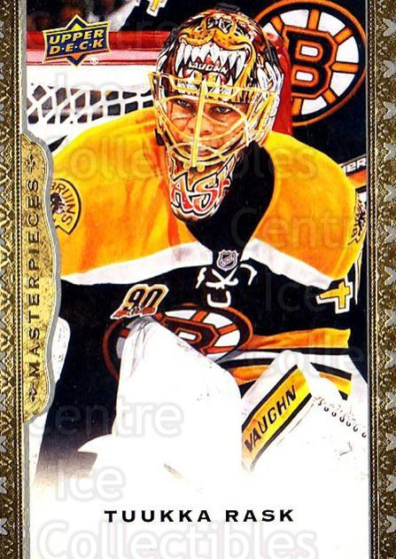 2014-15 UD Masterpieces #32 Tuukka Rask<br/>4 In Stock - $2.00 each - <a href=https://centericecollectibles.foxycart.com/cart?name=2014-15%20UD%20Masterpieces%20%2332%20Tuukka%20Rask...&quantity_max=4&price=$2.00&code=691259 class=foxycart> Buy it now! </a>