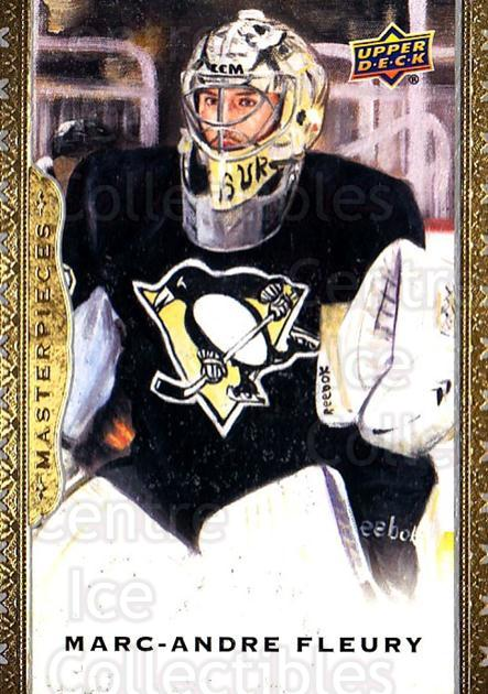 2014-15 UD Masterpieces #38 Marc-Andre Fleury<br/>5 In Stock - $2.00 each - <a href=https://centericecollectibles.foxycart.com/cart?name=2014-15%20UD%20Masterpieces%20%2338%20Marc-Andre%20Fleu...&quantity_max=5&price=$2.00&code=691265 class=foxycart> Buy it now! </a>