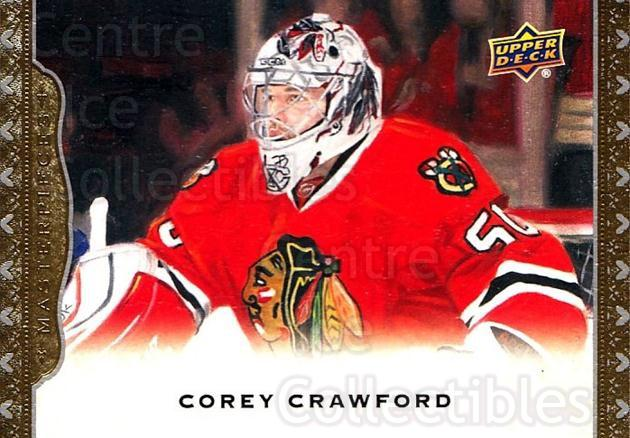 2014-15 UD Masterpieces #52 Corey Crawford<br/>4 In Stock - $2.00 each - <a href=https://centericecollectibles.foxycart.com/cart?name=2014-15%20UD%20Masterpieces%20%2352%20Corey%20Crawford...&quantity_max=4&price=$2.00&code=691279 class=foxycart> Buy it now! </a>