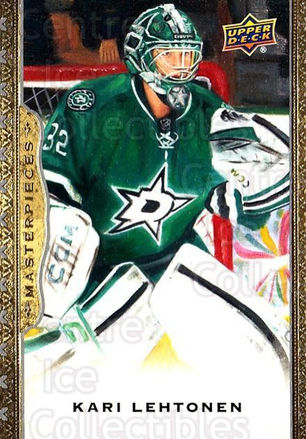 2014-15 UD Masterpieces #68 Kari Lehtonen<br/>5 In Stock - $2.00 each - <a href=https://centericecollectibles.foxycart.com/cart?name=2014-15%20UD%20Masterpieces%20%2368%20Kari%20Lehtonen...&quantity_max=5&price=$2.00&code=691295 class=foxycart> Buy it now! </a>
