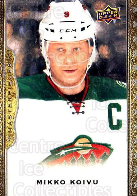 2014-15 UD Masterpieces #69 Mikko Koivu<br/>5 In Stock - $2.00 each - <a href=https://centericecollectibles.foxycart.com/cart?name=2014-15%20UD%20Masterpieces%20%2369%20Mikko%20Koivu...&quantity_max=5&price=$2.00&code=691296 class=foxycart> Buy it now! </a>