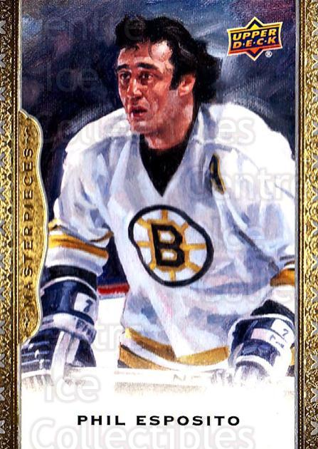 2014-15 UD Masterpieces #99 Phil Esposito<br/>2 In Stock - $3.00 each - <a href=https://centericecollectibles.foxycart.com/cart?name=2014-15%20UD%20Masterpieces%20%2399%20Phil%20Esposito...&quantity_max=2&price=$3.00&code=691326 class=foxycart> Buy it now! </a>